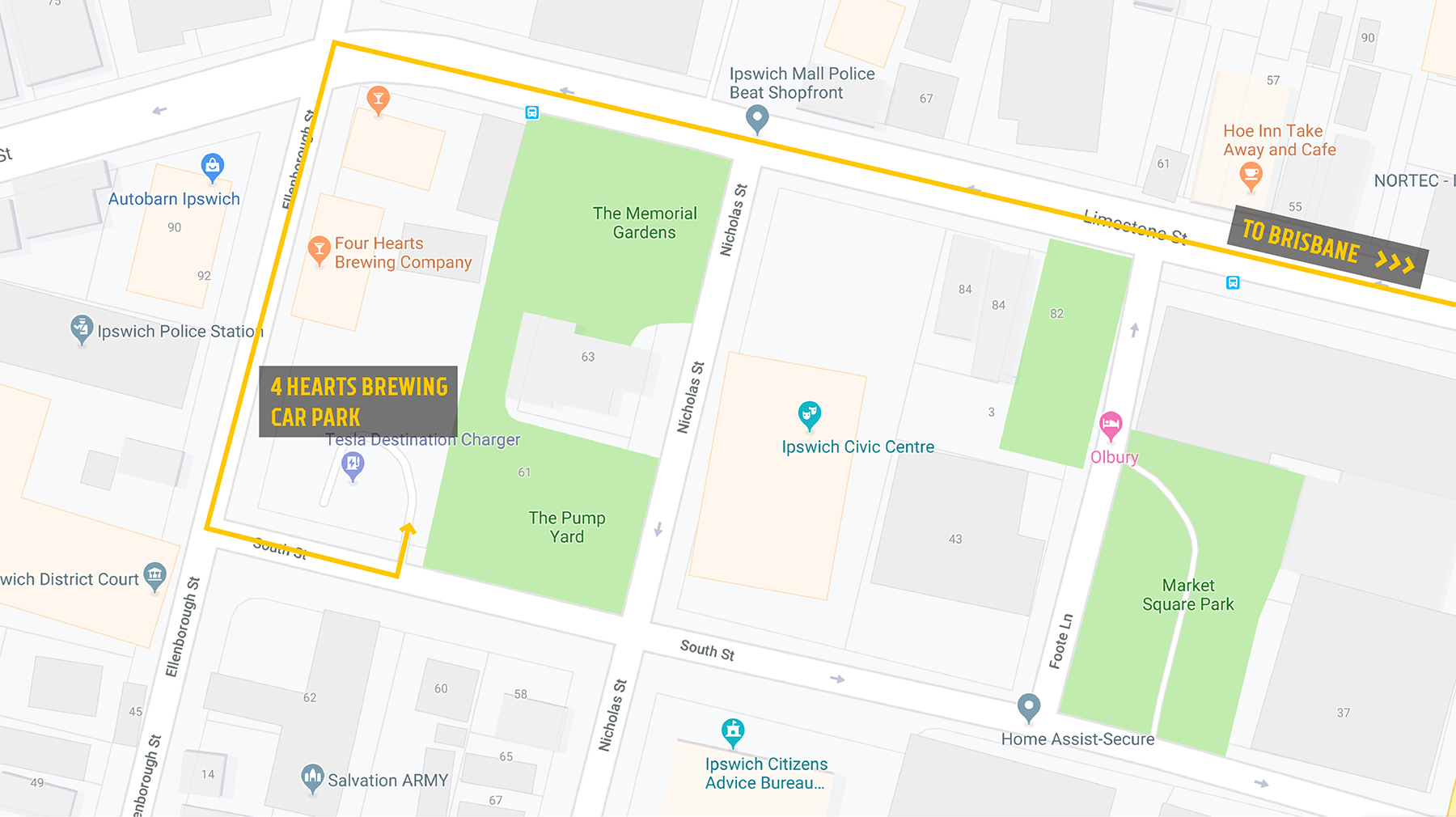 parking directions via south street entrance 4 hearts